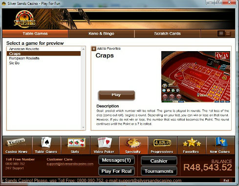silversands online casino by games online